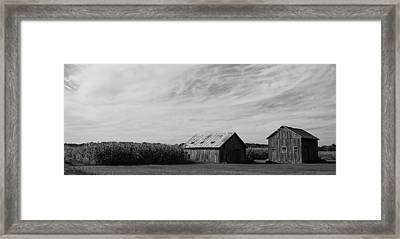 Zink Rd Farm 2 In Black And White Framed Print