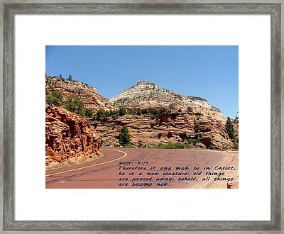 Zion 2cor 5-17 Framed Print