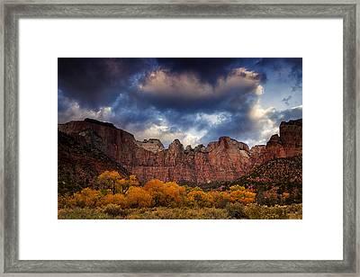 Zion At Autumn Framed Print