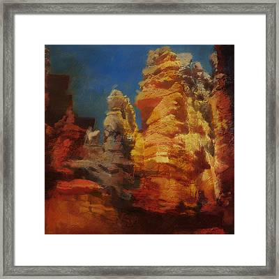 Zion Canyon Framed Print by Corporate Art Task Force