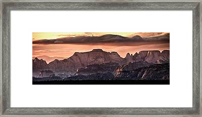 Zion Cliffs Framed Print by Leland D Howard