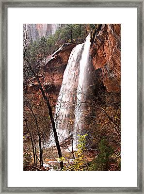 Zion Falls Framed Print