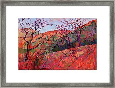 Zion Flame Framed Print by Erin Hanson