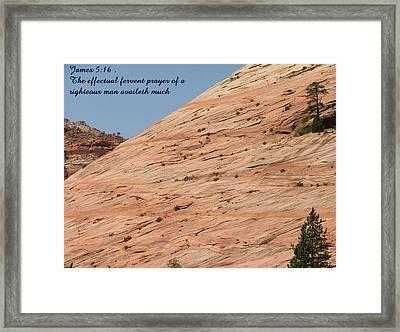 Zion James 5-16 Framed Print