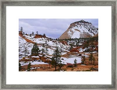 Zion Landscape Framed Print