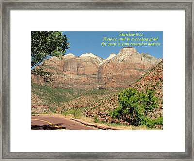 Zion  Matthew 5-12 Framed Print