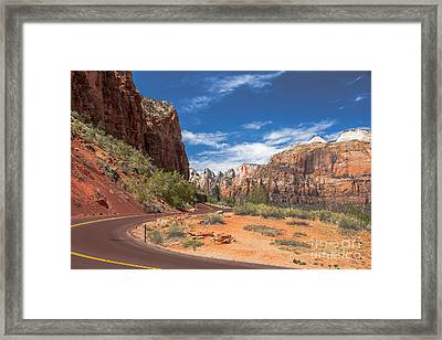 Zion Mount Carmel Highway Framed Print by Robert Bales