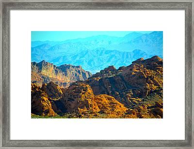 Zion Mountain Range Framed Print by Barbara Snyder