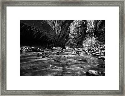 Zion Narrows Framed Print