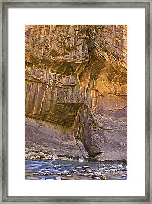 Framed Print featuring the photograph Zion Narrows by Ruth Jolly