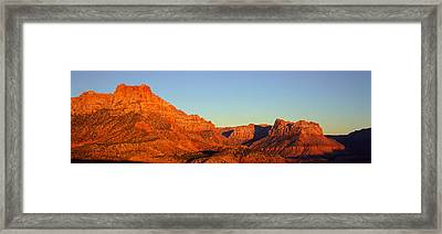 Zion National Park At Sunset, Utah Framed Print by Panoramic Images