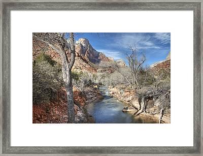 Zion National Park Framed Print by Darlene Bushue