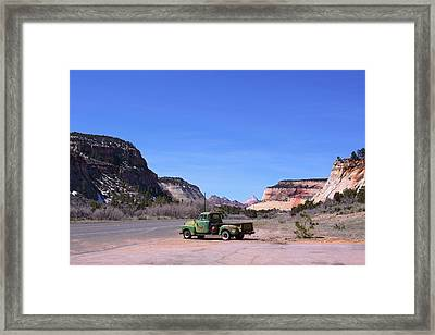 Zion National Park Eastern Entrance Framed Print by Viktor Savchenko