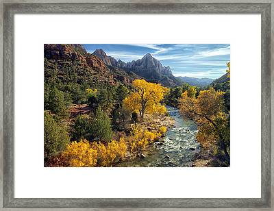 Zion National Park In Fall Framed Print
