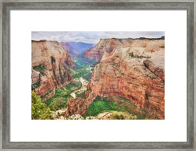 Zion National Park Framed Print by Lori Deiter