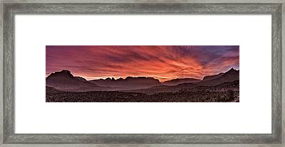 Zion National Park Panoramic Framed Print