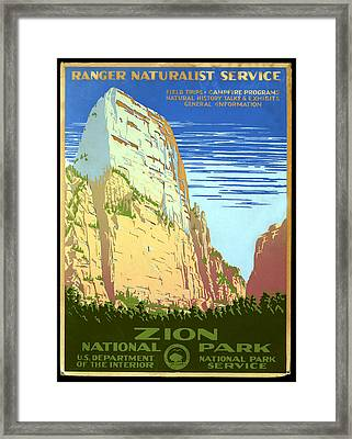 Zion National Park Ranger Naturalist Service  Framed Print by Unknown