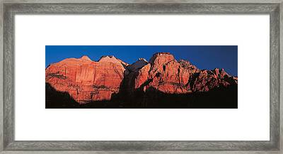 Zion National Park Ut Usa Framed Print