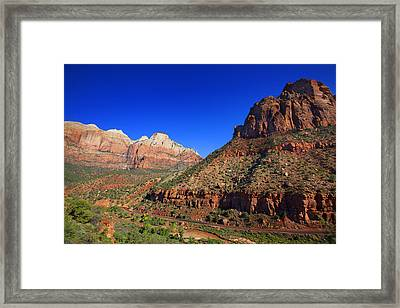 Zion National Park Utah Usa Framed Print