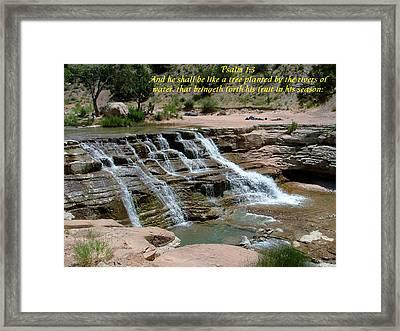 Zion Psalm 1-3 Framed Print