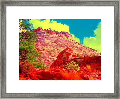 Zion Rising Framed Print by Ann Johndro-Collins