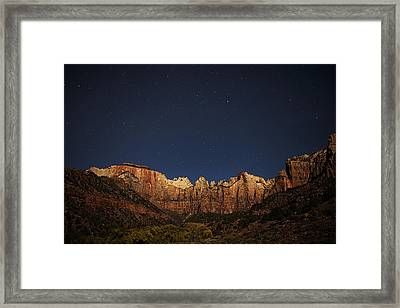 Zion Under The Stars Framed Print
