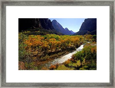 Zion Utah Framed Print