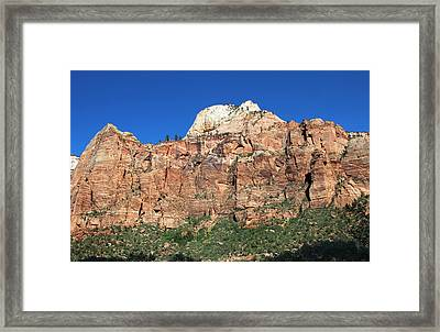 Framed Print featuring the photograph Zion Wall by Jemmy Archer