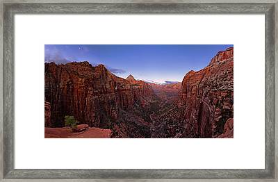 Zion's Twilight Framed Print