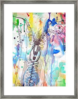 Zip It Framed Print by Josie Duff