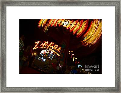 Zipper Framed Print by Alice Mainville