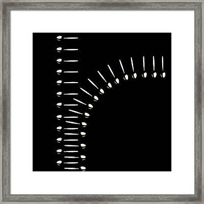 Zipper Of Spoons Framed Print