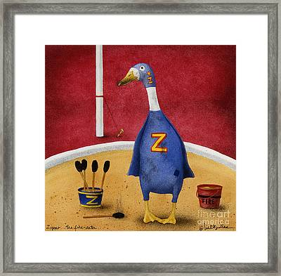 Zippo...the Fire Eater... Framed Print by Will Bullas