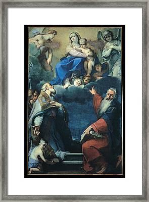 Zoboli Giacomo, Madonna And Child Framed Print
