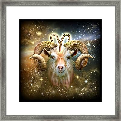 Zodiac Aries Framed Print by Ciro Marchetti