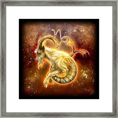 Zodiac Capricorn Framed Print by Ciro Marchetti