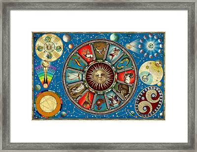Zodiac Colour Framed Print