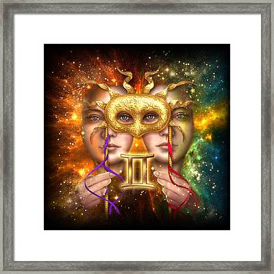 Zodiac Gemini Framed Print by Ciro Marchetti