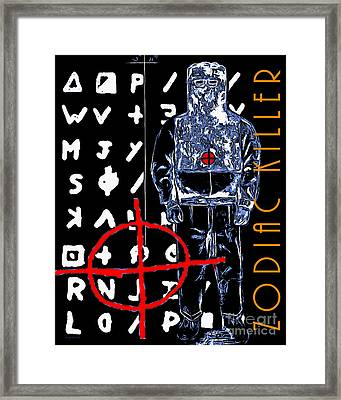 Zodiac Killer 20140912poster Framed Print by Wingsdomain Art and Photography