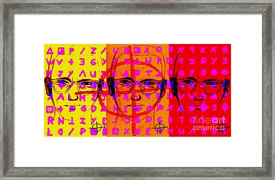 Zodiac Killer Three With Code And Sign 20130213 Framed Print by Wingsdomain Art and Photography