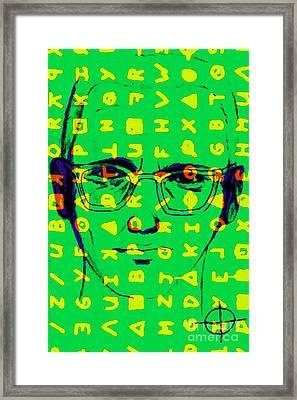 Zodiac Killer With Code And Sign 20130213 Framed Print by Wingsdomain Art and Photography