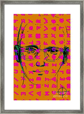Zodiac Killer With Code And Sign 20130213m80 Framed Print by Wingsdomain Art and Photography