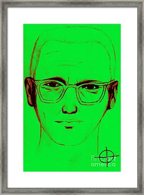 Zodiac Killer With Sign 20130213 Framed Print by Wingsdomain Art and Photography