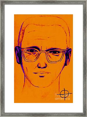 Zodiac Killer With Sign 20130213m98 Framed Print by Wingsdomain Art and Photography