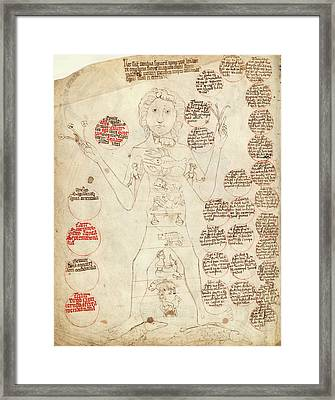 Zodiac Man Framed Print by Library Of Congress