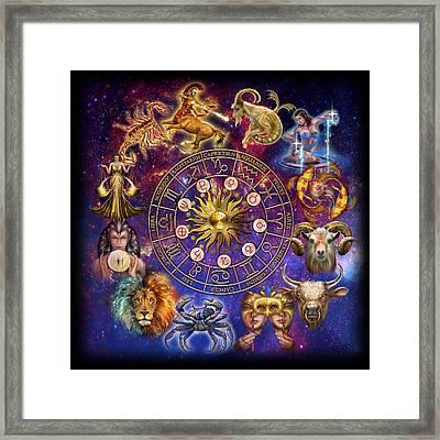 Zodiac Montage Framed Print by Ciro Marchetti