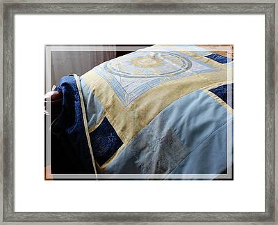Zodiac Patchwork Quilt Framed Print by Barbara Griffin