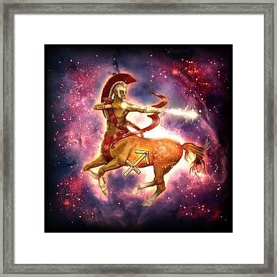 Zodiac Sagittarius Framed Print by Ciro Marchetti