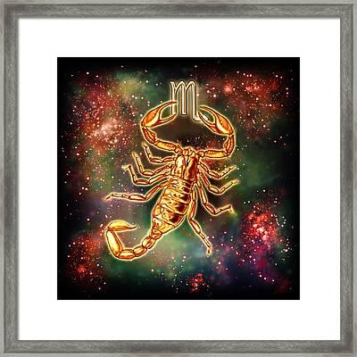 Zodiac Scorpio Framed Print by Ciro Marchetti