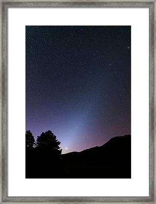 Zodiacal Light And Venus Framed Print by Luis Argerich